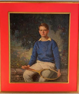"""Young Tennis Pro"" 1936 by Carl Wendell Rawson American, (1884-1970) (Sold!)"