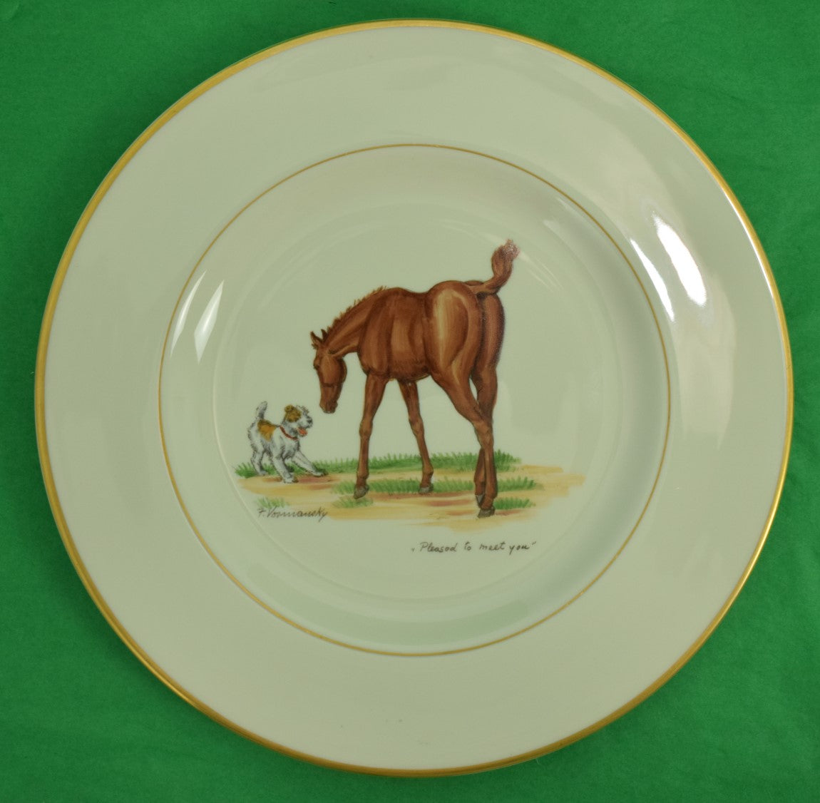 Abercrombie & Fitch 'Pleased to Meet You?' Dinner Plate by Frank Vosmansky