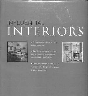 """Influential Interiors, Shaping 20th Century Style: Key Interior Designers"""