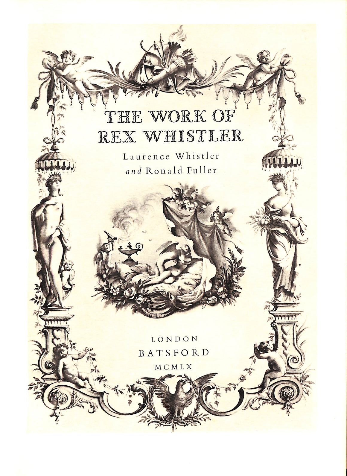 'The Work of Rex Whistler' 1960 by Laurence Whistler