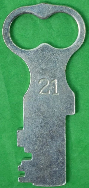 "The ""21"" Club New York Steel 'Key' Bottle Opener"