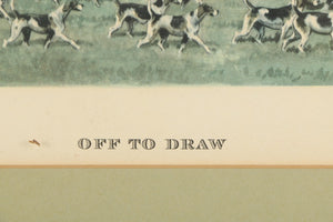 """Off to the Draw"" c.1951 by Edw S. Voss"