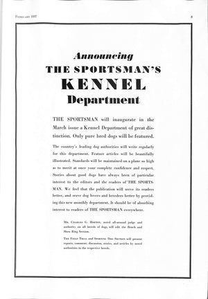The Sportsman Vol. XXI. No. 2. February 1937