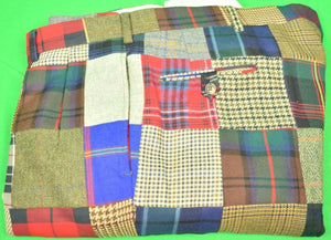 "The Andover Shop Patch Tweed/ Tartan Trousers Sz: 42""W (SOLD)"