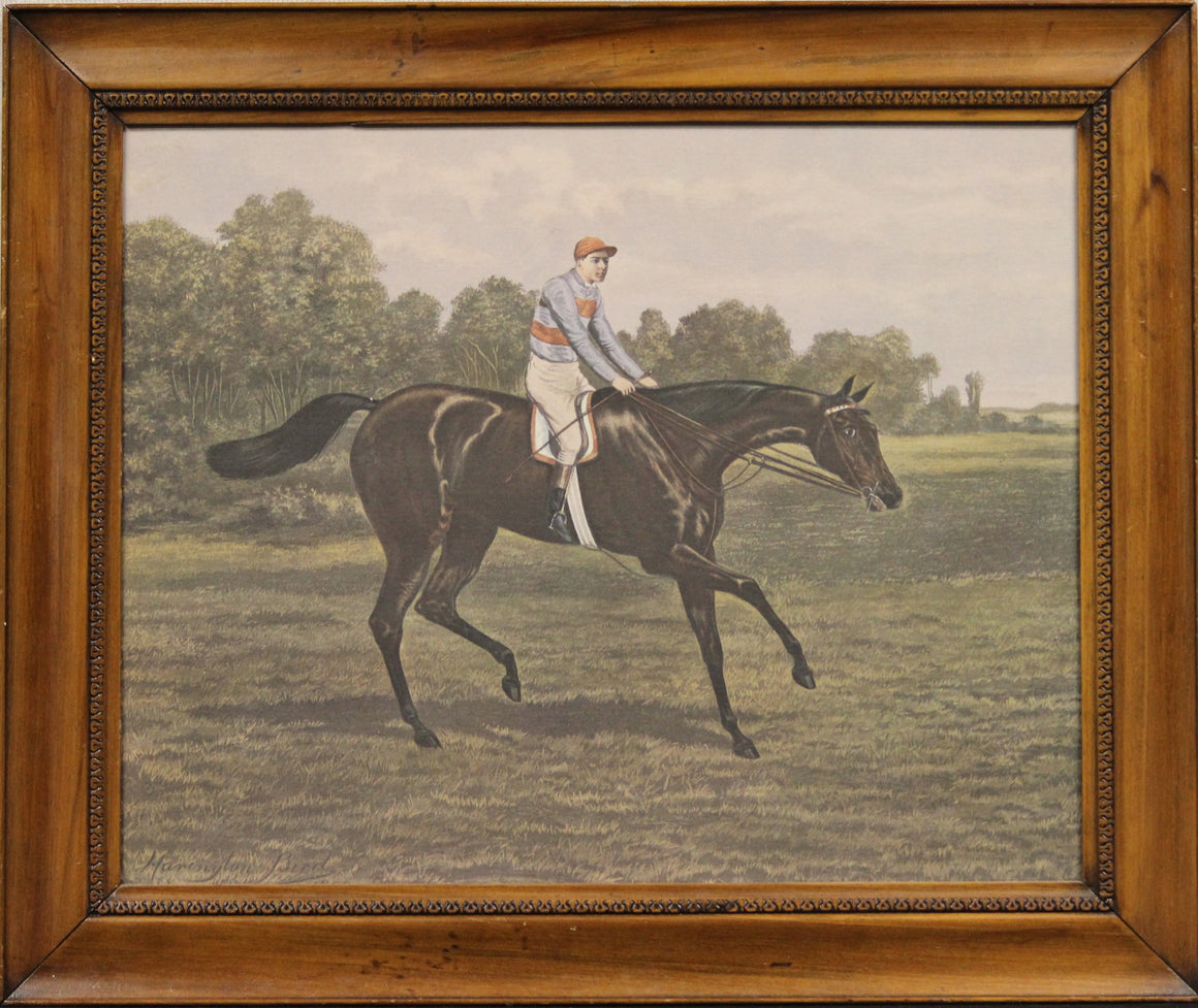 """Jockey Up on Racehorse"" by Harrington Bird (1846-1936)"