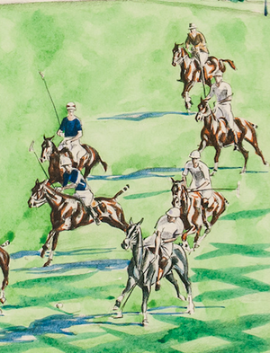 International Meadow Brook Polo Match by Joseph Golinkin (1896-1970)