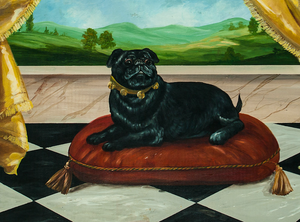 Pampered Pug Acrylic on Board