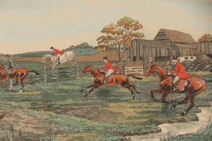 "Edward King Hand-Colored Aquatint ""The First Flight"", Circa 1929"