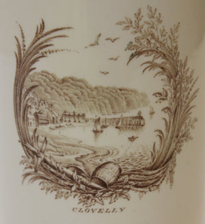 'Rex Whistler Clovelly Wedgwood China Vase'