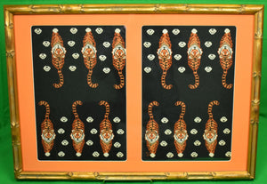 Princeton Tigers Needlepoint Backgammon Board