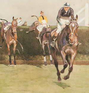 The Grand National, Valentines by Cecil Aldin