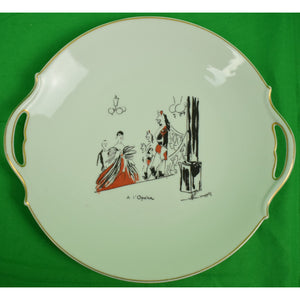 Limoges French Serving Plate a l'Opera by Maurice Van Moppes (1904-1957)