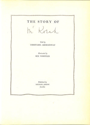 'The Story of Mr Korah' 1954 Illustrated by Rex Whistler