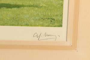 "Sir Alfred Munnings Ltd Edition Lithograph of Racehorse ""Solario"""