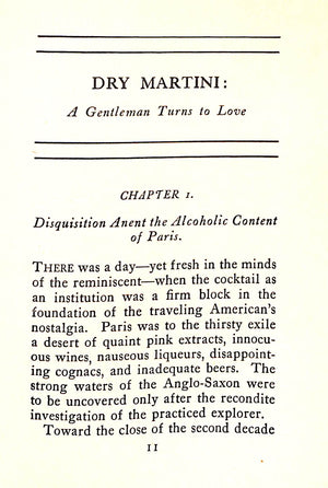 Dry Martini: A Gentleman Turns To Love