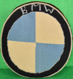 BMW Hand-Needlepoint c1960s Pillow (SOLD)