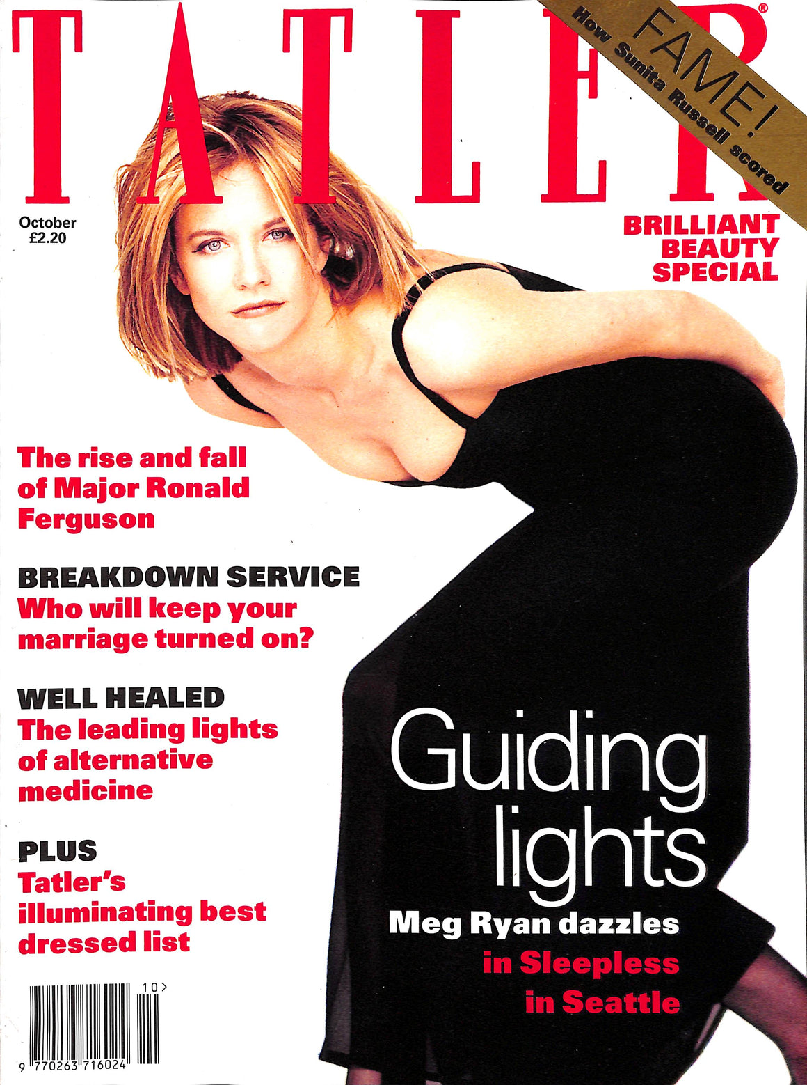 Tatler October 1993 Meg Ryan Cover