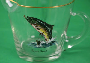 "Hand-Painted Leaping ""Brook Trout"" Pitcher Signed: Schaldach for Carwin"