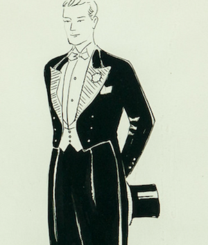 Evening Attire c.1930's Watercolour