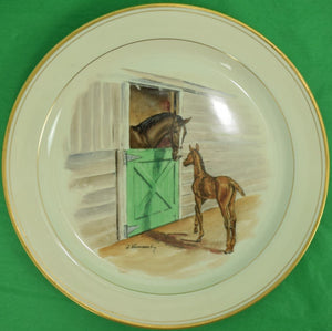 Abercrombie & Fitch Equestrian Dinner Platter c.1940's by Frank Vosmansky
