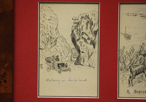 Four c1910s Postcard Drawings
