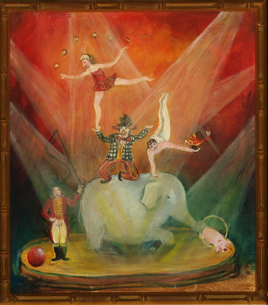 Circus Carnival Oil on Canvas