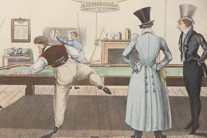 "Hand-Colored Halftone After William Henry Pyne ""Billiards"" (SOLD)"