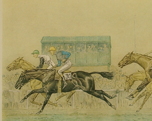 Valentine's Brook, Grand National at Aintree, 1932 by Paul Desmond Brown for Polo Magazine