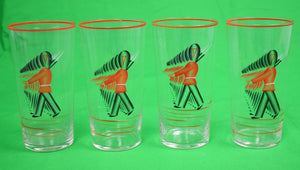 Set of 4 Queen's Royal Guard Hand-Painted Cocktail Glasses