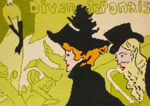 Divan Japonais c.1960's Needlepoint Panel
