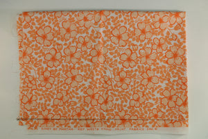 Lilly Pulitzer Vintage Orange Floral Key West Hand-Print Fabric