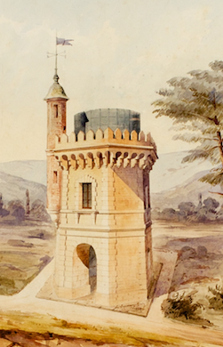 Castle Folly 1859 Watercolour