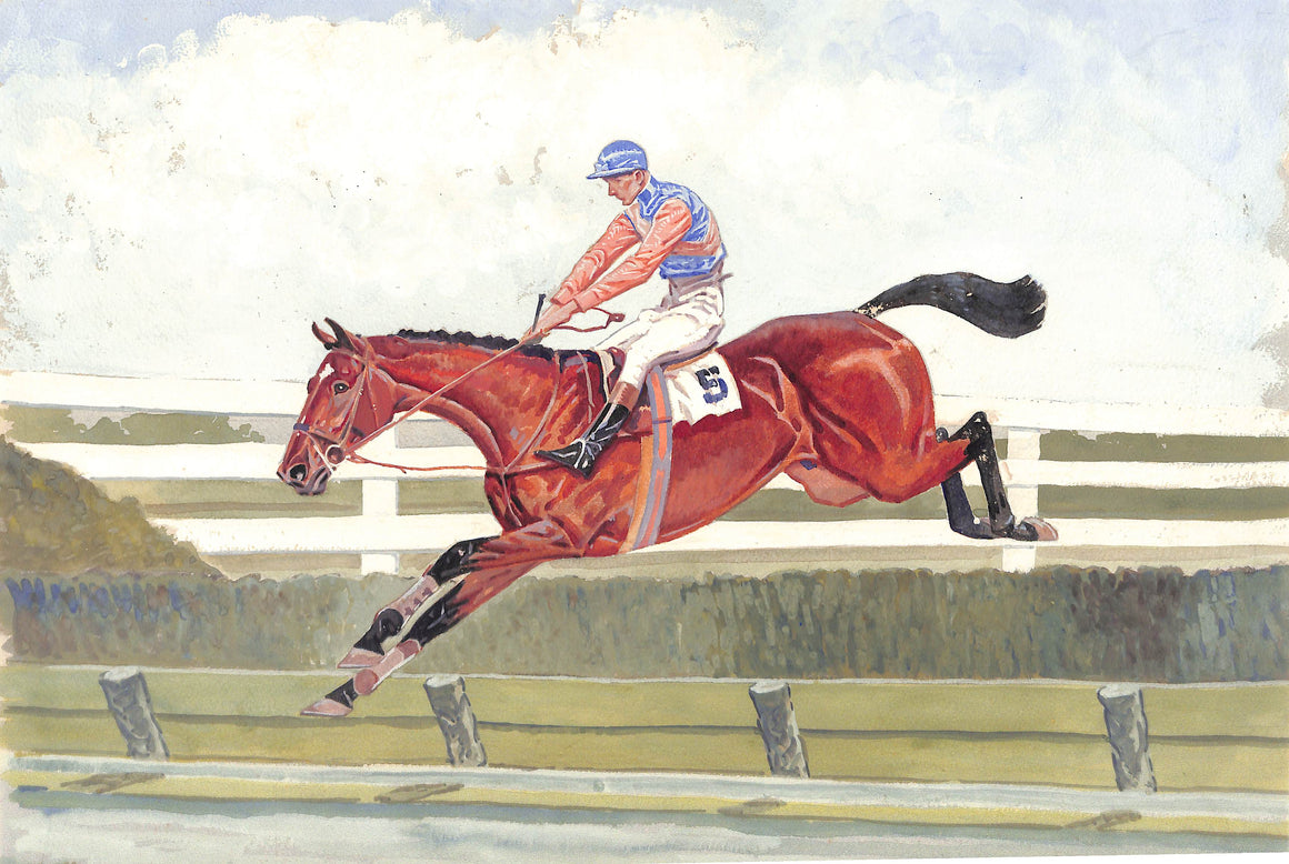 """Gentleman Jockey #5 in The 1939 Maryland Hunt Cup"" by Paul Desmond Brown"
