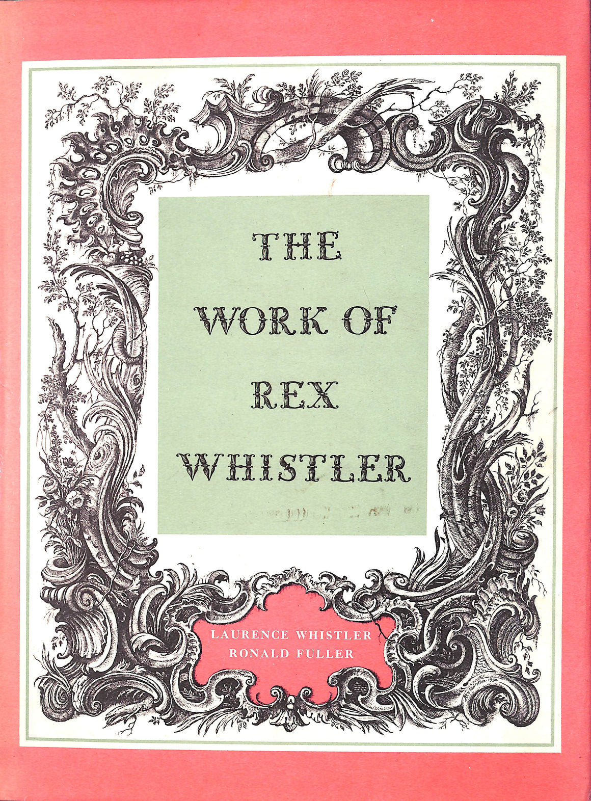 The Work of Rex Whistler' 1960 by Laurence Whistler