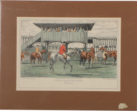 "Edward King Lithograph ""American Horse Show Scenes, Rochester"" 1931"