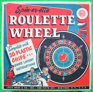Spin-er-ette Roulette Wheel Louis Marx & Co