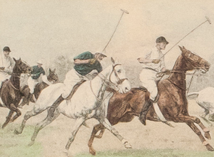 Five Polo Players Colour Plate by George Wright (1860-1942) (Sold!)