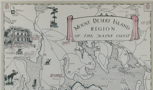 Mount Desert Island Region of The Maine Coast 1941