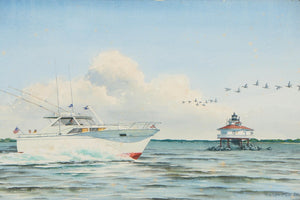 'Two Yachting Watercolour Paintings' 1968 by John Moll