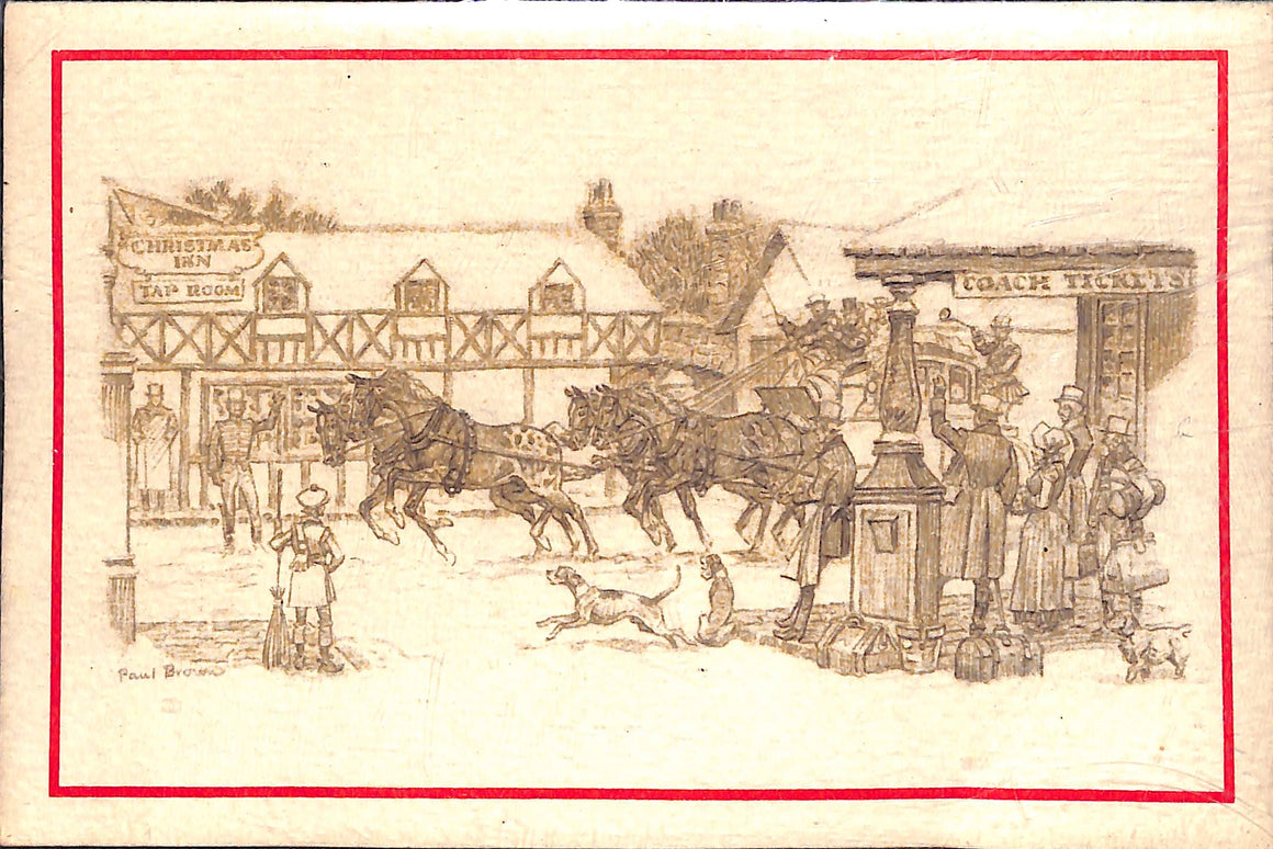 Merry Christmas Card Printed by Brooks Bros