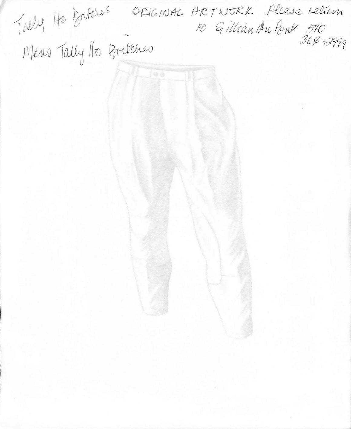 Men's Tally-Ho Britches Graphite Sketch