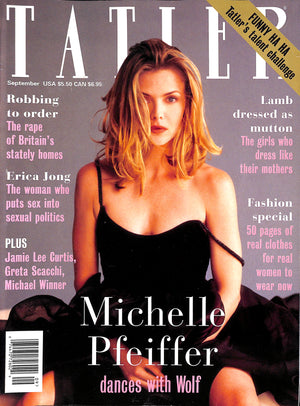 Tatler September 1994 Michelle Pfeiffer Cover