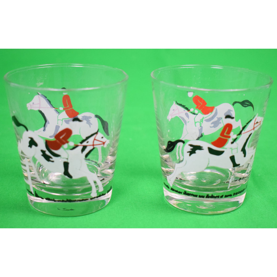 Pair of Libbey Fox-Hunter Glasses