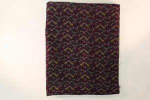 Cross Oars & Anchors on Plum Color Fabric