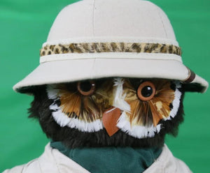 "Jungle Toys of London for Abercrombie & Fitch ""Owl on Safari"" in Box w/ Binoculars/ Hunting Rifle & Pith Helmet"