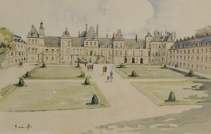 Palais Gardens c.1950's Watercolour