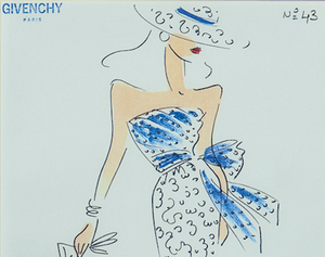 Givenchy Paris Fashion Plate No. 43
