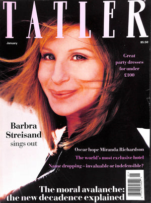 Tatler January 1994 Barbra Streisand Cover
