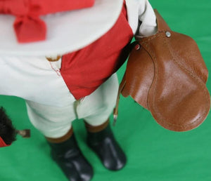"London Owl Company for Abercrombie & Fitch Red/ White Silks ""Jockey"" w/ Saddle & Crop"
