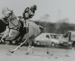 'Polo Match' c.2001 B&W Framed Photo by Sebastian Lezica of Argentina
